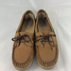 UGG Shoes - UGG Chivon Skip-lace Espadrilles Leather Loafers